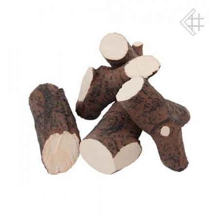 Elementy ozdobne drewienka ceramiczne