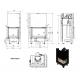 Wkład kominkowy MBZ 13 prawy BS gilotyna (szyby łączone bez szprosa)
