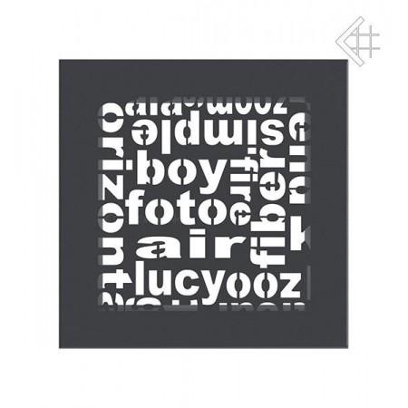Kratka wentylacyjna ABC 17/17 grafit