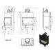 Wkład kominkowy MBM 10 prawy BS (szyby łączone bez szprosa)