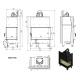 Wkład kominkowy MBO 15 lewy BS (szyby łączone bez szprosa)