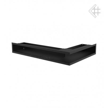 Kratka wentylacyjna luft narożny prawy 400x600x90 mm - kolor czarny