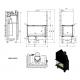 Wkład kominkowy MBO 15 BS lewy BS gilotyna (szyby łączone bez szprosa)
