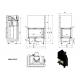Wkład kominkowy MBM 10 lewy BS gilotyna (szyby łączone bez szprosa)