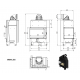 Wkład kominkowy MBM 10 lewy BS (szyby łączone bez szprosa)