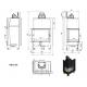 Wkład kominkowy MBZ 13 lewy BS (szyby łączone bez szprosa)